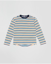 Tommy Hilfiger - Stripy Boxy Fit Ringer LS Tee - Teens