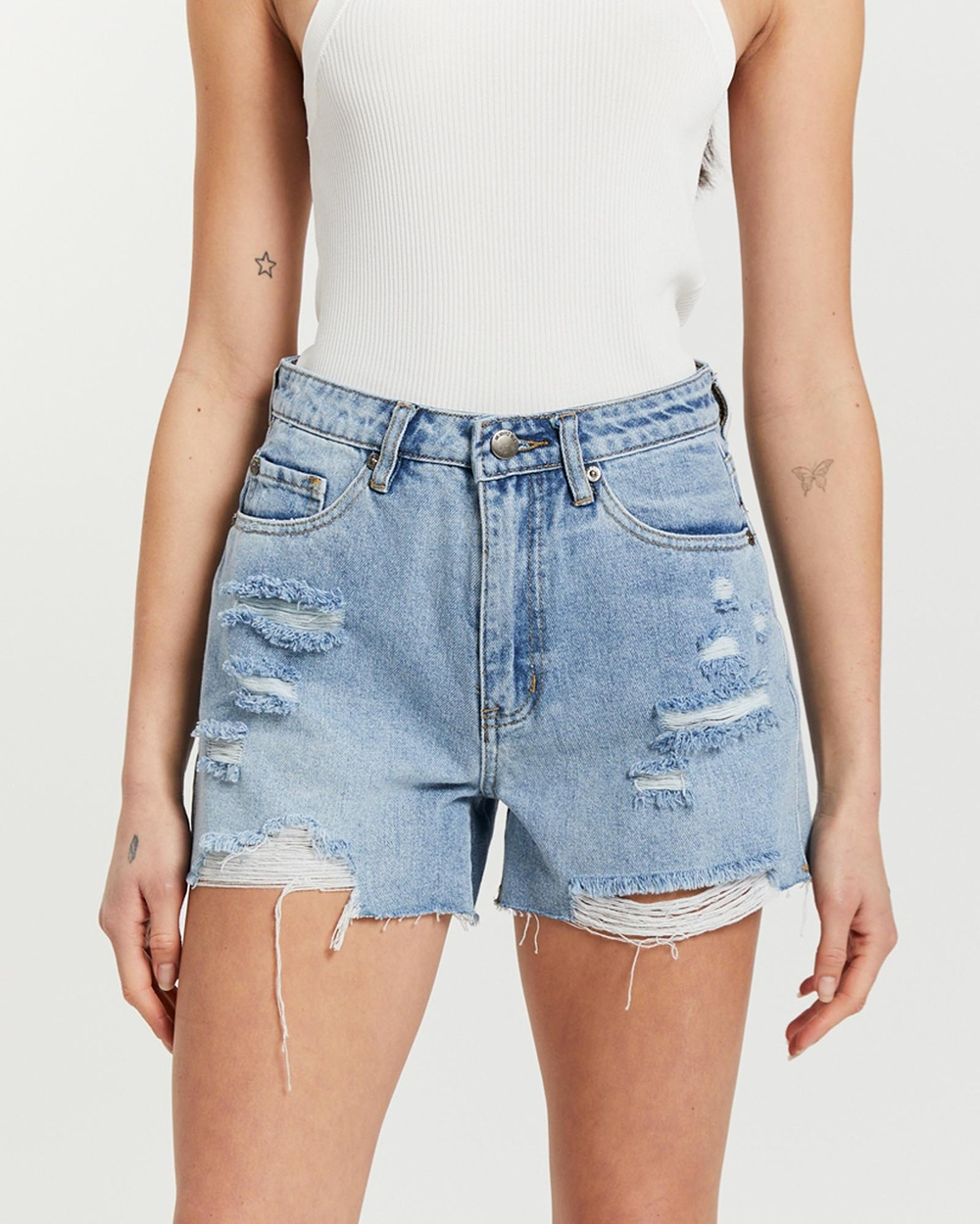 All About Eve Murphy Shorts Denim Heritage Blue