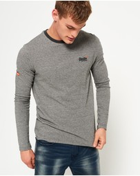 Superdry - Orange Label Textured Long Sleeve T-Shirt