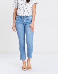 Lincoln St - Crop Washed Denim Jeans