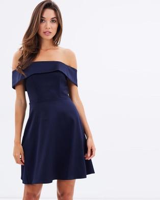 Lumier – Body Language Off Shoulder Mini – Dresses (Navy)
