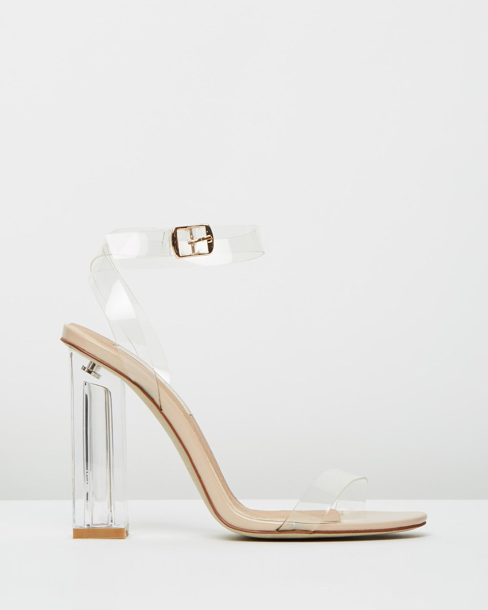 42efb2200b Spirit Square Gem Strap Perspex High Heels in Rose Gold. 1 year ago. $18  $49. 62% OFF. save. Theiconic