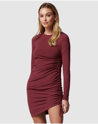Forever New - Darcy Crew Neck Ruched Mini Dress