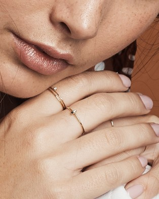 Luna Rae Solid Gold   Solar Ring - Jewellery (Gold)