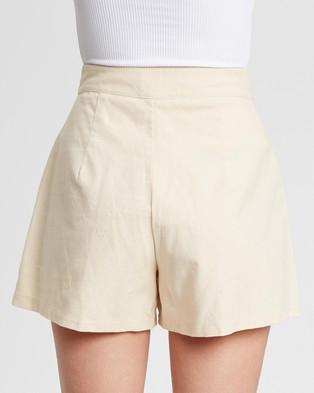 Calli Brinklow Tailored Shorts - High-Waisted (Sand)