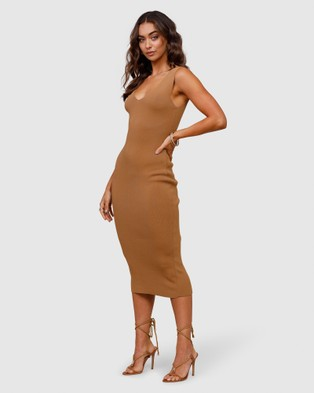 Ministry of Style Rustic Knit Midi Dress - Bridesmaid Dresses (neutrals)