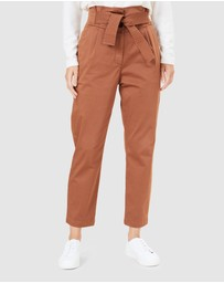 French Connection - High Waist Belted Pant