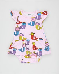 Walnut Melbourne - Little Miss Ginger Frill Romper - Babies