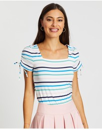 Review - Amalfi Stripe Top
