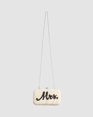 From St Xavier Mrs Box Clutch - Clutches (Ivory & Black)