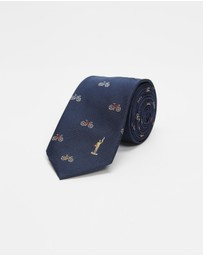 Paul Smith - Embroidered Bikes Tie