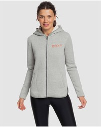 Roxy - Womens Slopes Fever Sherpa-Lined Zip-Up Hoodie