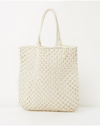 The Beach People - Macramé Cotton Cord Bag