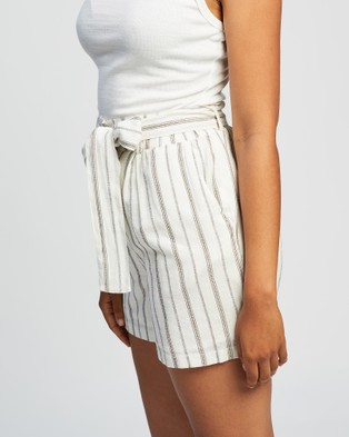 KAJA Clothing Kristy Shorts - High-Waisted (Gold Stripe)