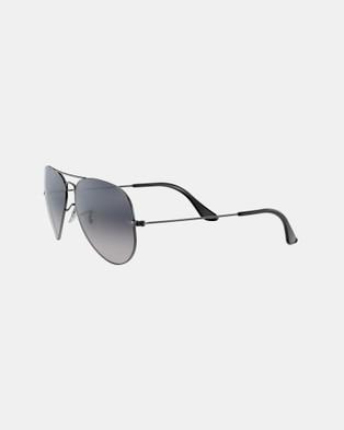 Ray-Ban - Aviator Gradient Polarised Sunglasses (Polarised Blue Grey)
