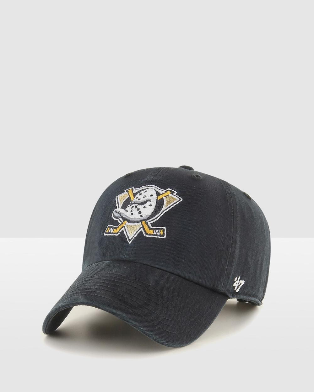 47 Anaheim Ducks Black 47 Clean Up Hats Black