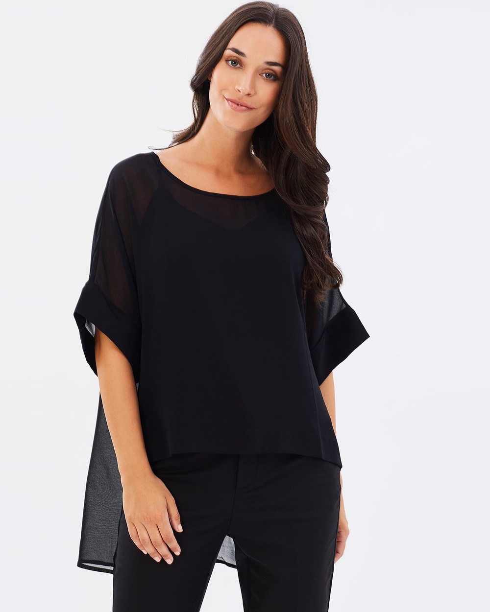Faye Black Label Liberty Layering Top Tops Black Liberty Layering Top