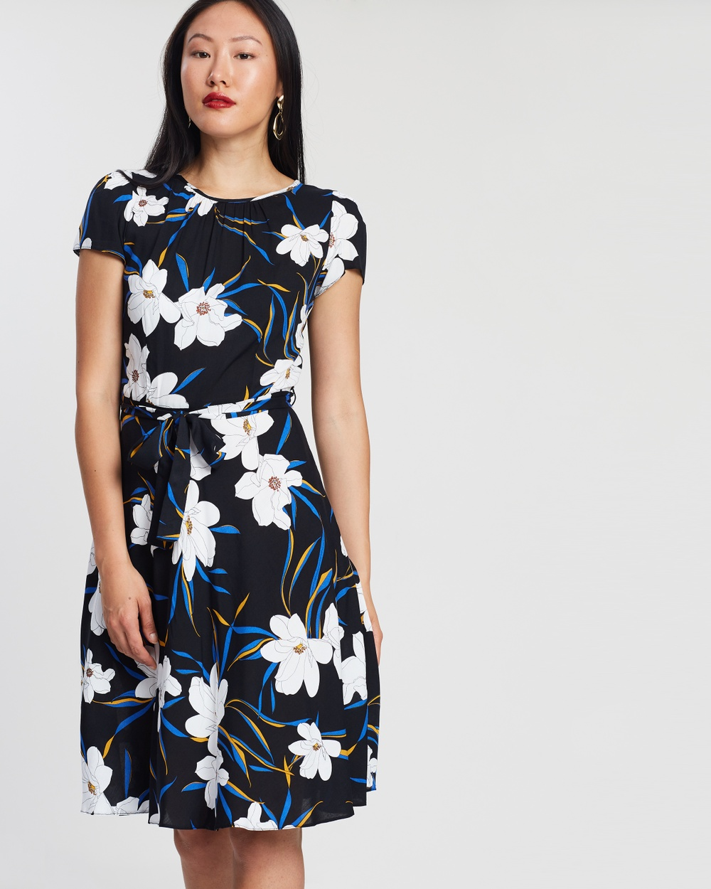 Billie & Blossom by Dorothy Perkins Black Bloom Skater Dress