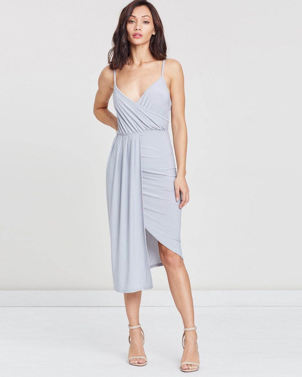 Missguided Slinky Strappy Midi Dress Dresses Lilac Slinky Strappy Midi Dress