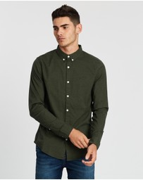 Hollister - Long Sleeve Muscle Fit Oxford Shirt