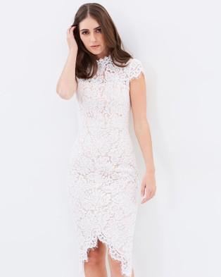 Romance by Honey and Beau – Charlotte Cap Sleeve Dress White