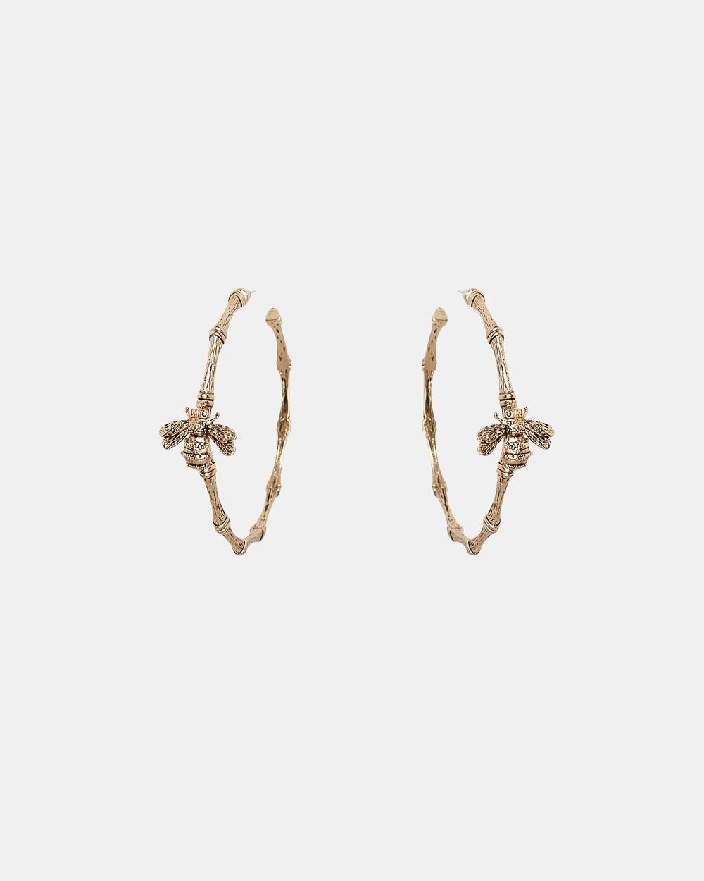 Kitte Bambu Hoop Jewellery Gold