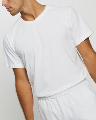 AERE Relaxed Organic Aere Tee - T-Shirts & Singlets (White)
