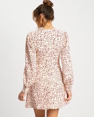 Savel Eliyah Mini Dress - Printed Dresses (Ivory Petal Floral)