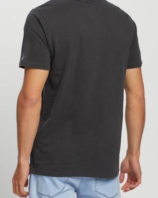 Volcom Wash Solid Short Sleeve Tee - T-Shirts & Singlets (Black)