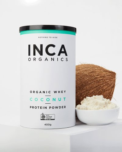 Certified Organic Whey Protein Powder - Coconut - 400g