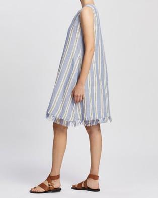 KAJA Clothing Amy Dress - Dresses (Blue Stripe)