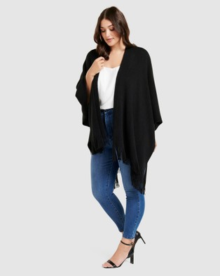 Forever New Curve Mia Curve Cape - Coats & Jackets (Black)
