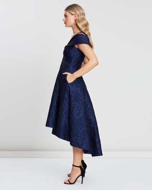 Montique Luciana Jacquard Dress - Dresses (Navy)