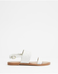 Atmos&Here - Karri Woven Leather Sandals