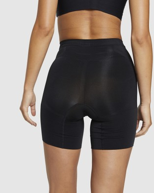 Spanx Oncore High Waisted Mid Thigh Shorts - Lingerie (Black)