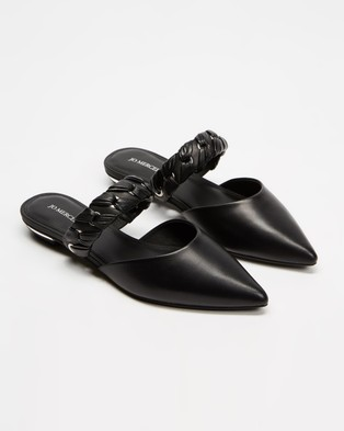 Jo Mercer Cadence Dress Flats - Flats (Black Leather)