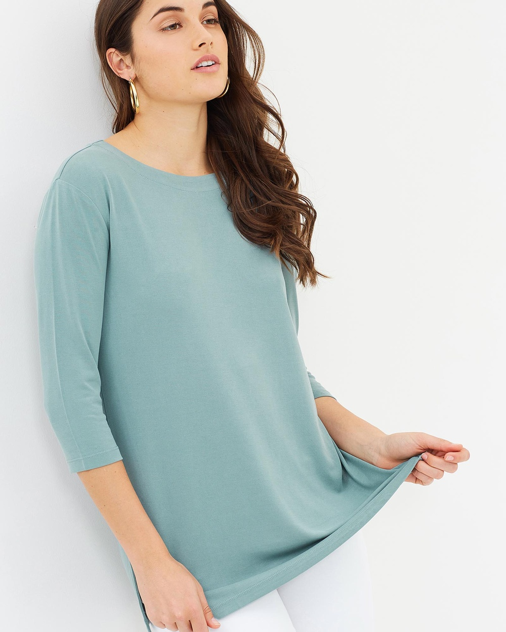 Sportscraft Soft Sandwashed Top Tops Sage Soft Sandwashed Top