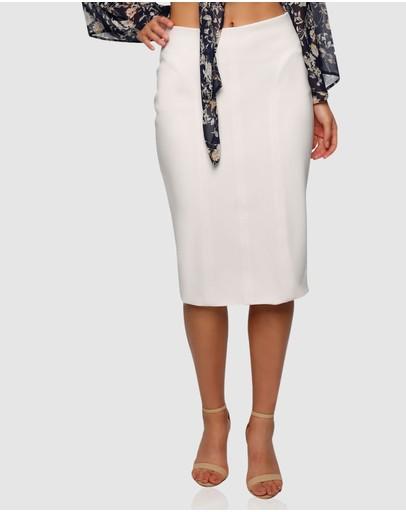 Pizzuto Coachella Pencil Skirt White