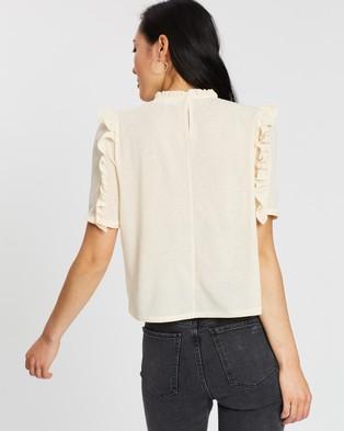 M.N.G Aqua T Shirt - Tops (Natural)