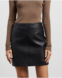 ENA PELLY - Classic Smooth Mini Skirt
