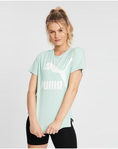 Puma Classics Logo Tee Mist Green
