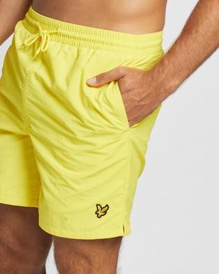 Lyle and Scott Plain Swim Shorts - Swimwear (Buttercup Yellow)