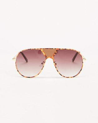 MINKPINK Rhetoric - Sunglasses (Tort & Gold)