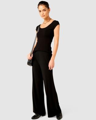 SACHA DRAKE Cap Sleeved Top - Tops (Black)