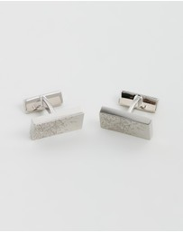 HUGO - Cufflinks with Scratch Detail