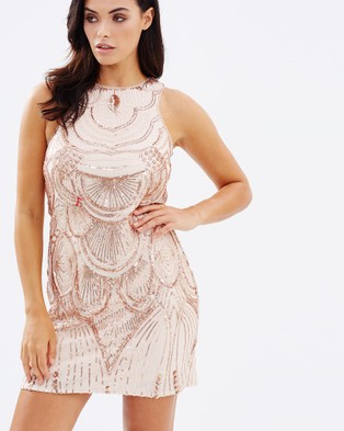 Bariano – Ann Pattern Sequin Tunic – Dresses (Rose Gold)