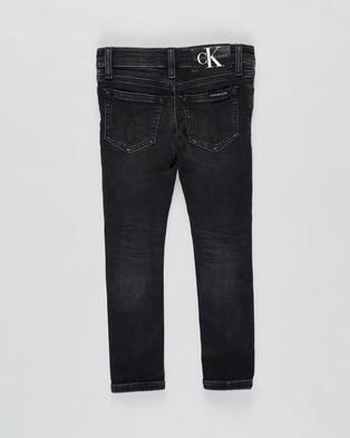 Calvin Klein Jeans Stretch Skinny Jeans   Kids - Jeans (Athletic Wash Black)