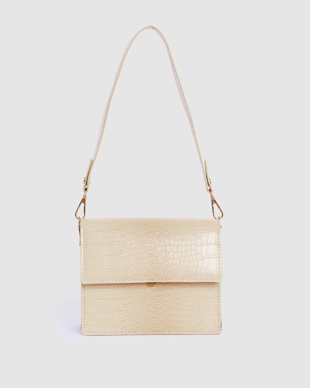 Calli Forrester Concertina Bag Handbags Beige Handbags Australia