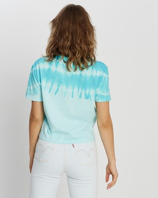 Tommy Jeans Summer Tie Dye Tee - T-Shirts & Singlets (Light Chlorine Blue)