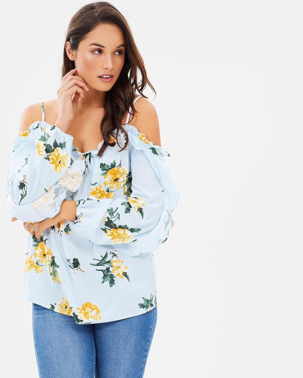Dorothy Perkins Sasha Floral Print Cami Tops Blue Sasha Floral Print Cami